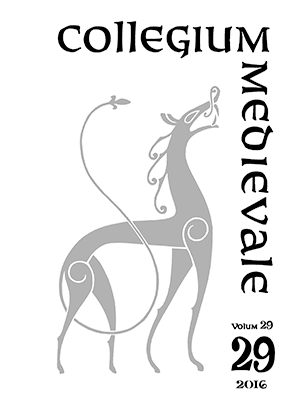 Collegium Medievale 2016