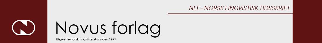 NLT - Norsk lingvistisk tidsskrift